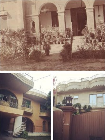 11 Masson Road replaced by 11a, 11b and 11c Mason Road in contemporary Lahore. Images: Alexander Wilson Estate.