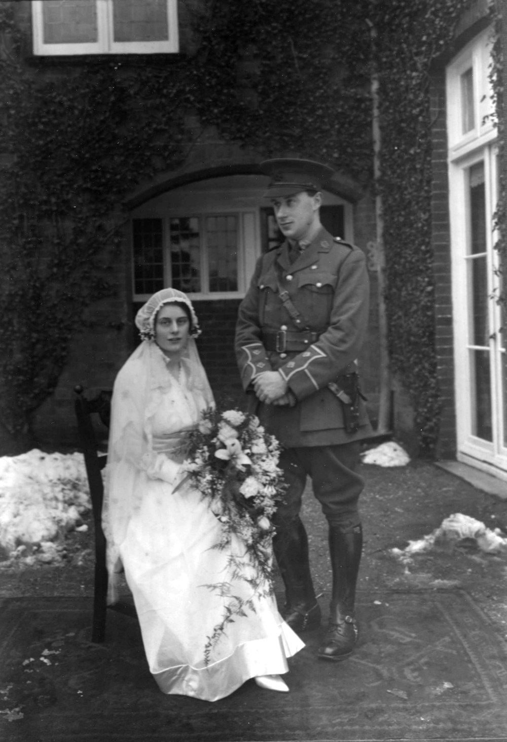 Alexander Wilson in First World War officer's uniform on his wedding day with Gladys in 1916. Image: (c) Alexander Wilson Estate. All rights reserved.