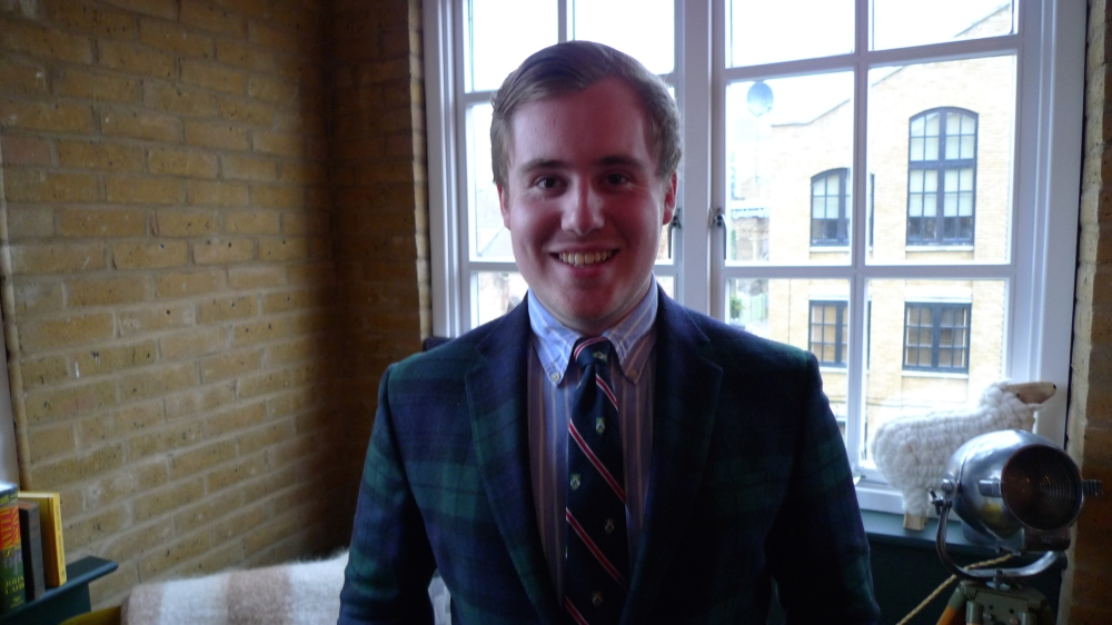 Christopher McGill in 2016- being interviewed about his journey to Lahore, Pakistan tracing the footsteps of his great grandfather Alexander Wilson. Image: Alexander Wilson Estate.
