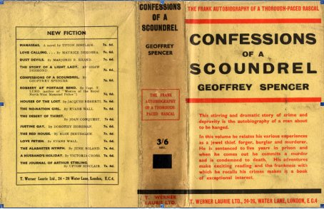 Cover of 'Confessions of a Scoundrel' by Alexander Wilson under the pseudonym 'Geoffrey Spencer.' Image: Random House.