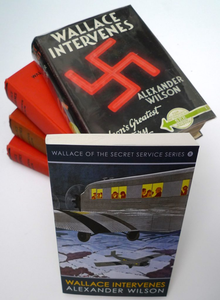 'Wallace Intervenes'- First Editions published by Herbert Jenkins in 1939 and the First Allison and Busby Edition 2016. Image: AWE.