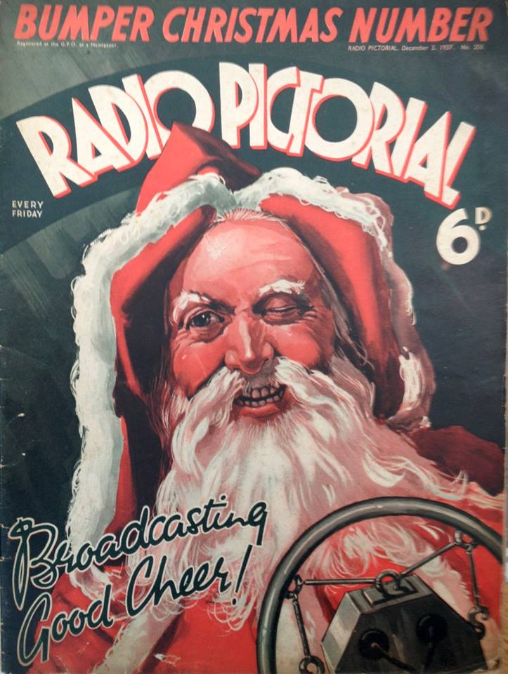 Cover of 'Radio Pictorial' Christmas Special for 1937. Image: AWE